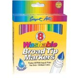 Washable Broad Tip Markers, 24 each of 8 colors
