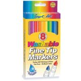 Washable Fine Tip Markers, 24each of 8 colors