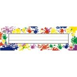 Finger Paint Flat Name Plates