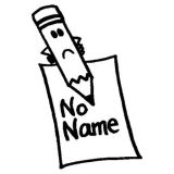 No Name Rubber Stamp