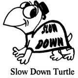 Slow Down Rubber Stamp