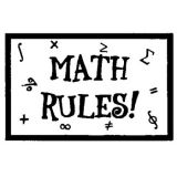 Math Rules! Rubber Stamp