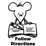 Follow Directions Stamp