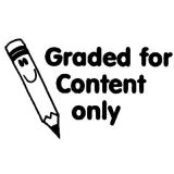 Graded for Content Only Rubber Stamp