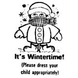 It's Wintertime! Rubber Stamp