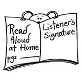 Read Aloud At Home Rubber Stamp