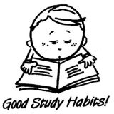 Good Study Habits! Rubber Stamp