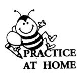 Practice At Home Rubber Stamp