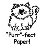 Purr-fect Paper! Rubber Stamp