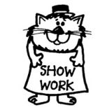 Show Work Rubber Stamp