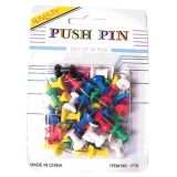 Banks Push Pins, Assorted Colors