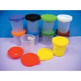 3-Piece No Spill Paint Cups, Set of 10 assorted colors