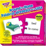 Around-the-Home Picture Words (English/Spanish) Fun-to-Know Puzzle