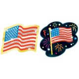 Foil Bright™ Stickers, Flowering Flags
