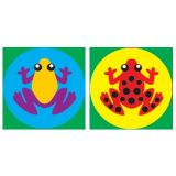 Tropical Frogs, superSpots Stickers