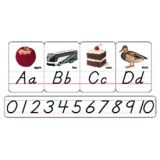 Modern Manuscript Photo Alphabet, Bulletin Board Set