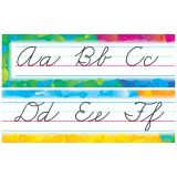 Color Splash Cursive Alphabet Bulletin Board Set, Zaner-Bloser