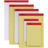 Legal Ruled Perforated Pads - 3/8 ruled - 50 sheets/pad - 1 dozen - 8 1/2 x 14 - Canary