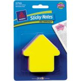 Avery® See-Through Small Arrow Sticky Notes, Yellow/Magenta, 10 pad per pkg/30 shts per pk
