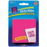Avery® See-Through Sticky Notes, Magenta, 5 pad per pkg/50 shts per pk