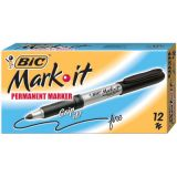 BIC® Mark It Permanent Marker, Black, Dozen