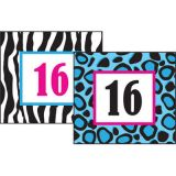 Colorful Leopard Calendar Cards, 36/pkg