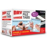 Filertek Dry Erase Tabs, Clear, 50 count