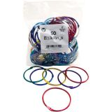 Book Rings, Assorted Metallic Colors, 2, 50/pkg