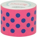 Purple Polka Dot on Pink, 1-1/2 x 39', Snazzy Tape