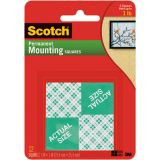 Scotch® Mounting Squares, 16/pkg