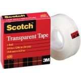 Scotch® 600 Transparent Tape, 1/2 x 1296