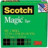 Scotch® Magic Tape No. 810, 1/2 x 1296