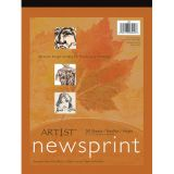 Newsprint Pad - 32 lb. - 50 sheets/pad - 9 x 12