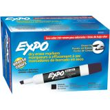 Expo® 2 Low Odor Dry Erase Marker, Chisel Tip, Black