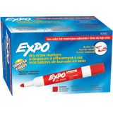 Expo® Dry Erase Markers, Bullet Tip, Red
