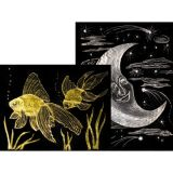 Scratch-Art© Paper, Gold & Silver Foil, 8-1/2 x 11, 50 sheets with stick