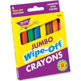 Wipe-Off® 8-Color Crayon Pack, Jumbo Size