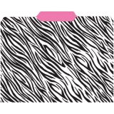 Zebra/Pink, File Folders 3rd Cut, 9-1/2 x 11-3/4