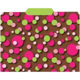 Chocolate Design, File Folders 3rd Cut, 9-1/2 x 11-3/4