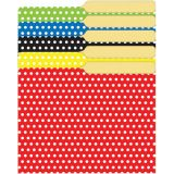 Assorted Polka Dots Mini File Folders, 4 x 6, 25/pkg