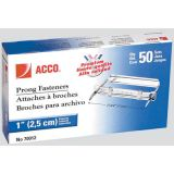 ACCO® Prong Fasteners 3-1/2, 2-3/4 Centres 50/box