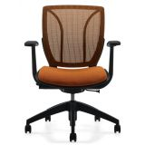 Multifunction Chair with Upholstered Cushion and Matching Mesh Back