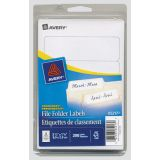 Avery® File Folder Labels White 200/pkg