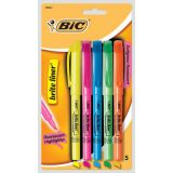 Bic® brite liner® Highlighters Chisel Tip Assorted Colours 5/set