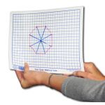 1 cm Mapping /  Graphing Dry Erase Board