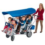 Runabout 6 Passenger Strollers with Canopy