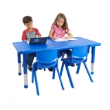 24 x 48 Resin Adjustable Activity Table