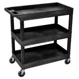 18 x 32 Tub Cart 3 Shelves - Black