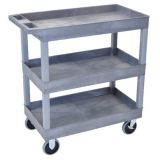 18 x 32 Tub Cart 3 Shelves - Grey