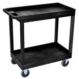 18 x 32 Tub Cart 2 Shelves - Black
